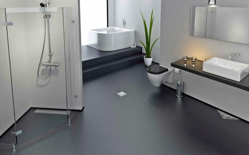 полимерный пол в ванной